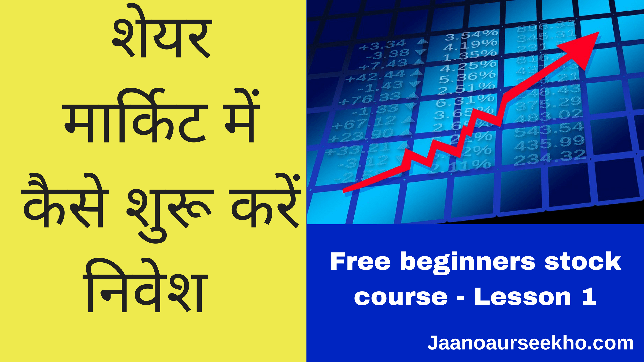 Lesson 1 How to start Investing in Share Market – Free Beginners Stock market course